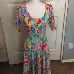 Multi colored modest dress